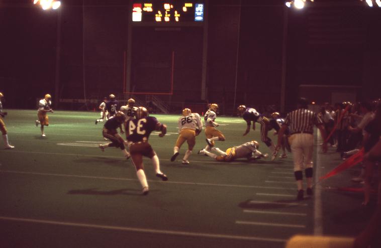 """Football action Sept 76 UNI Dome"""