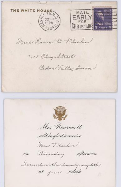 Eleanor Roosevelt invitation.