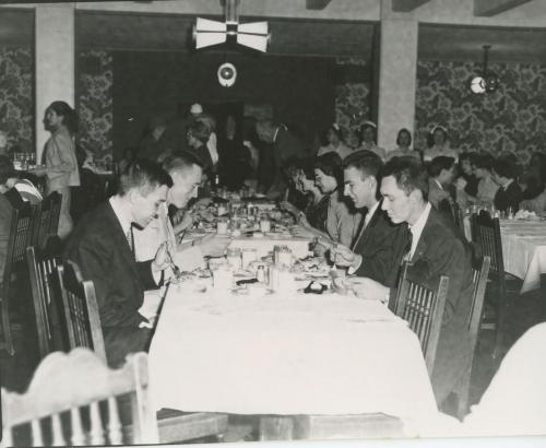 Christmas Dinner enjoyed in the 1950's