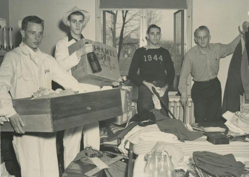 Four men in a double room, 1942.