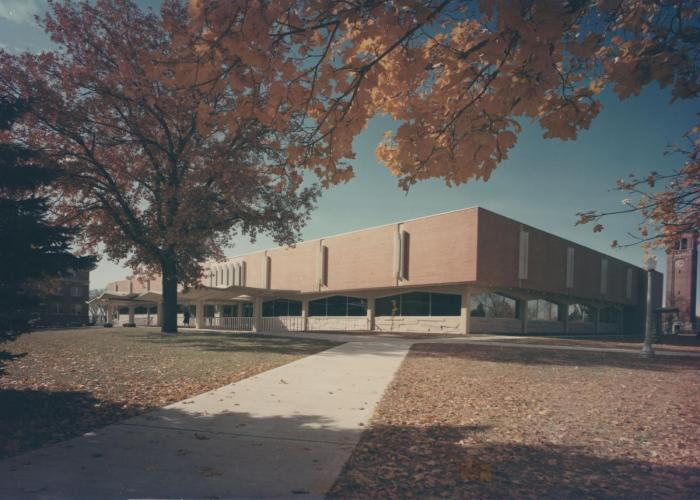 The new Library, 1964. (Photo by Joel Strasser)