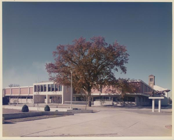 Library and the Oak, c. 1980
