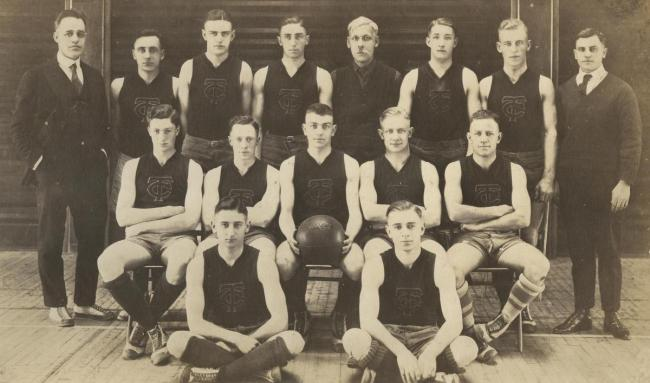 Basketball team, about 1919