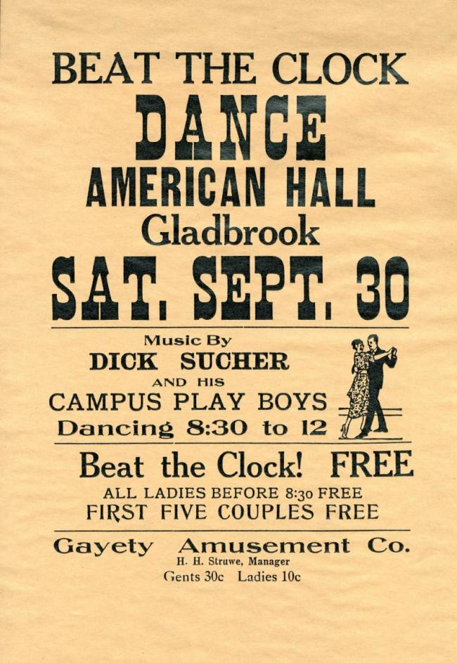 Gladbrook dance poster