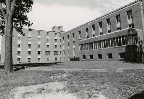 Baker Hall South Side, 1974