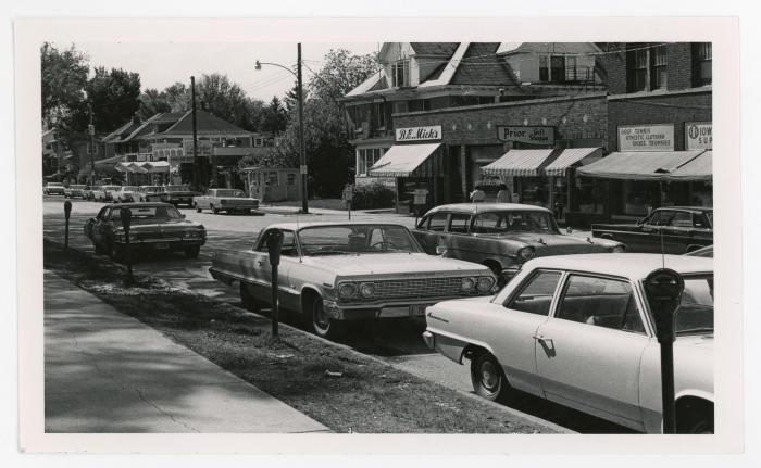 College Hill in Cedar Falls, 1969