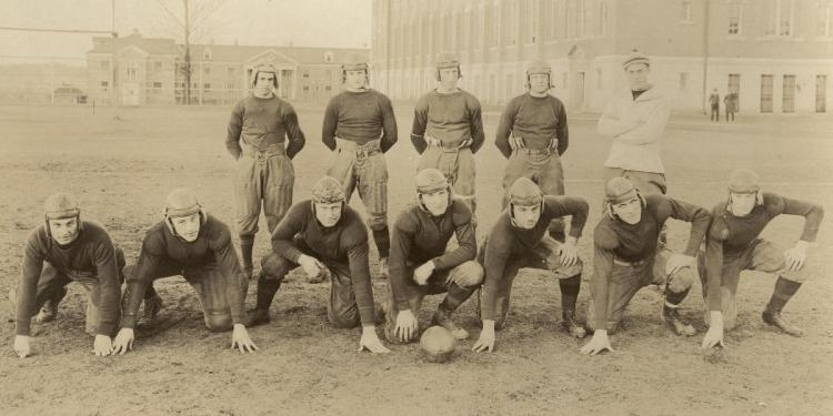Football team, about 1919.