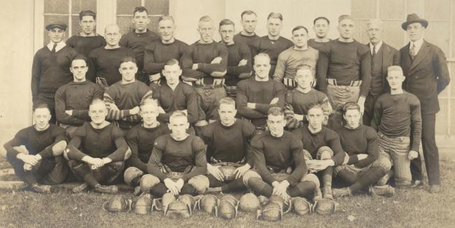 Football team, about 1919