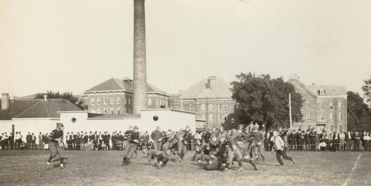 Football action, about 1919.