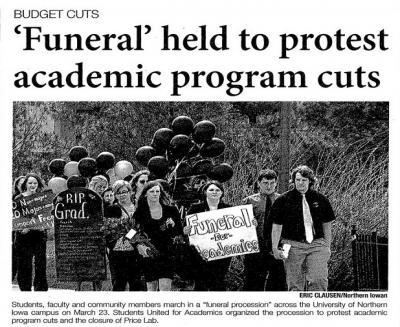 Funeral Northern Iowan