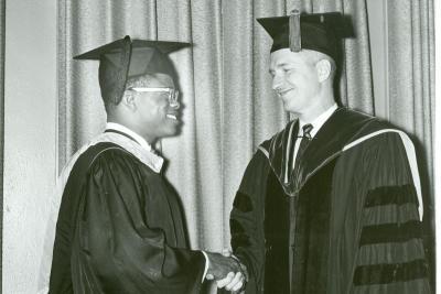 John Ogike and President Maucker, 1964