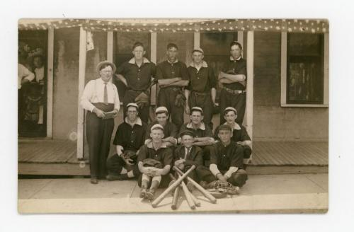 Delmar baseball team photo, of which Eugene Grossman was a part.