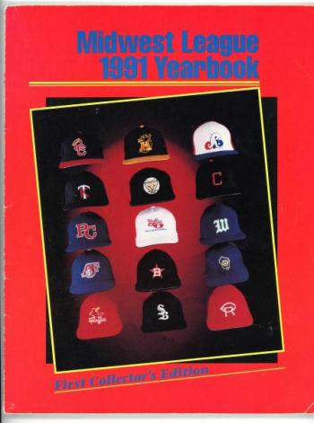 Front cover of the 1991 Midwest League yearbook