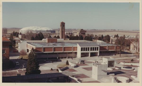 The Library and the Union, c. 1980; oak on the right.