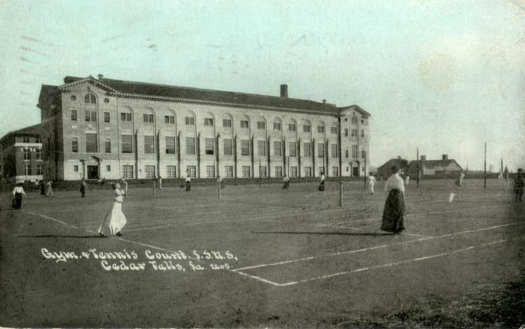 Women's Gymnasium and Tennis Courts, 1909