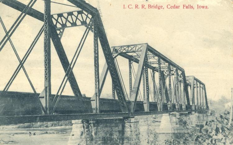 Illinois Central Railroad bridge, Cedar Falls, Iowa