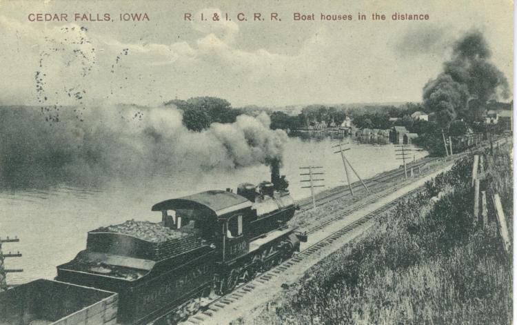 Rock Island and Illinois Central Railroad, Cedar Falls, Iowa