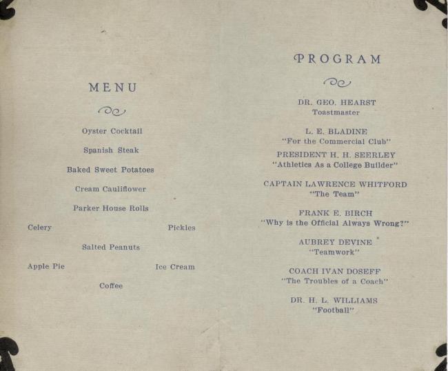Dinner program