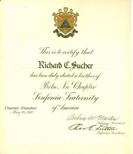 Beta Nu certificate