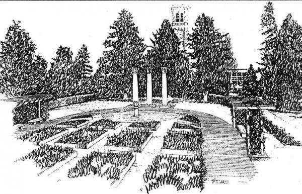 Millenium Garden plan