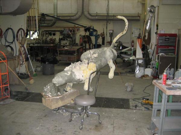 Panther sculpture model