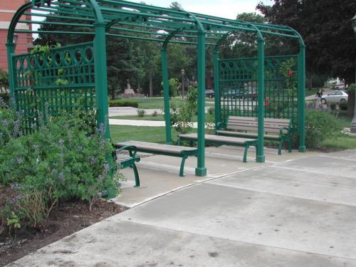 Bench in Memorial Garden
