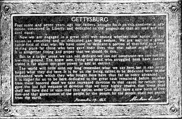 Gettysburg Address text