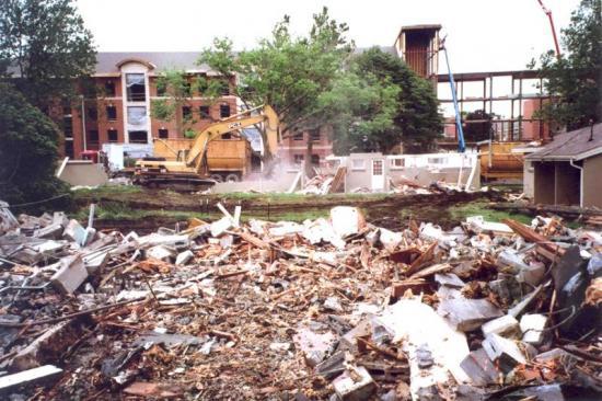 College Courts demolition