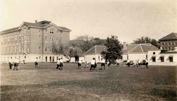 Physical education class, 1930.