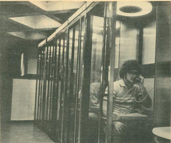 Telephone booths in Maucker Union