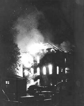 Central Hall fire