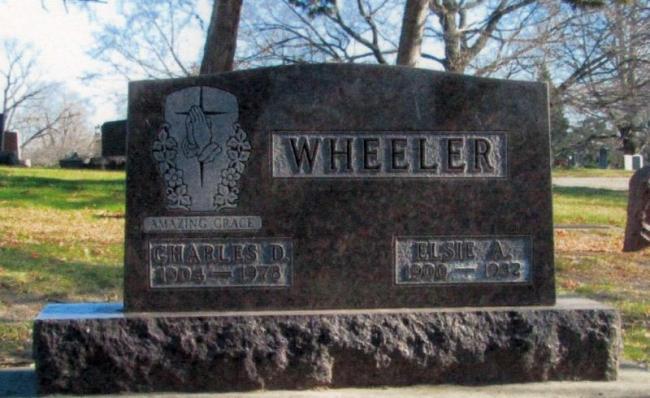 Wheeler gravestone, Fairview Cemetery, Waterloo