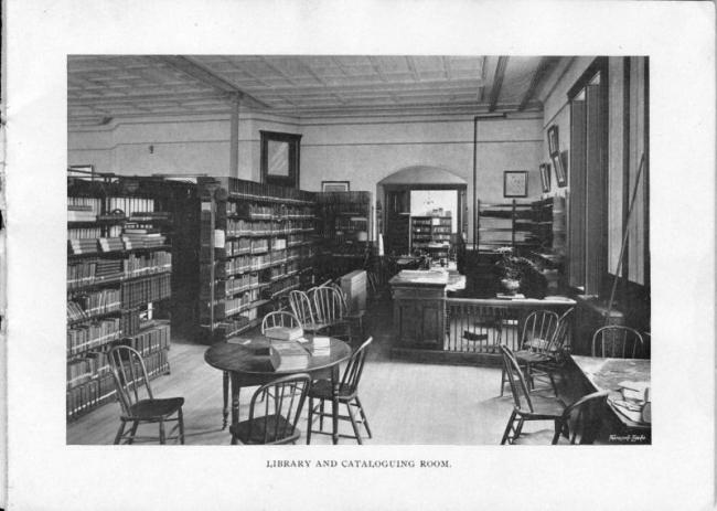 The library and cataloguing room