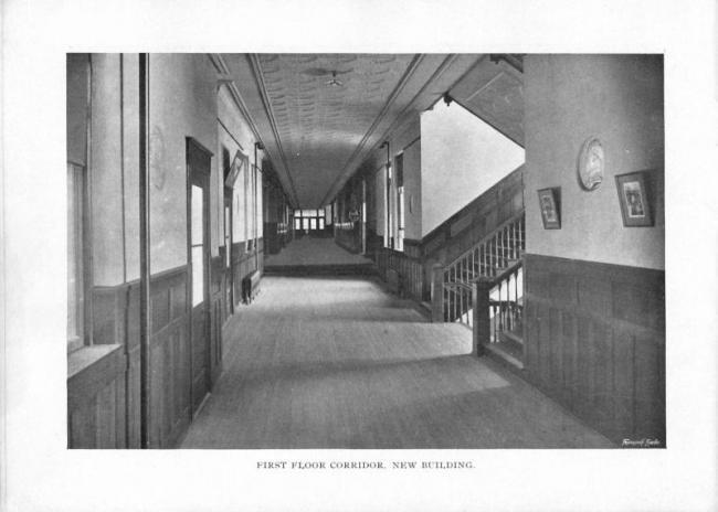 First floor corridor, new building