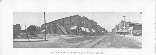 Cedar Falls, Main Street, looking north from Fourth Street