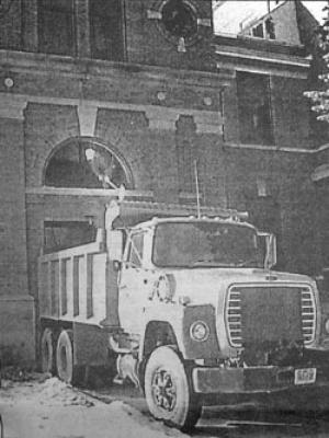 Lang Hall dump truck
