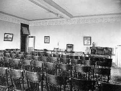 Literary society hall
