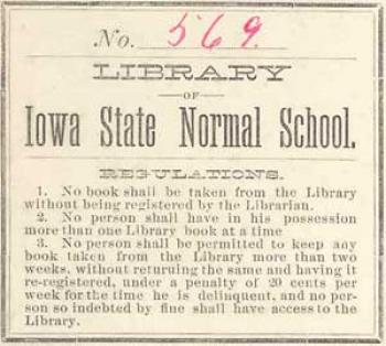 Normal School bookplate