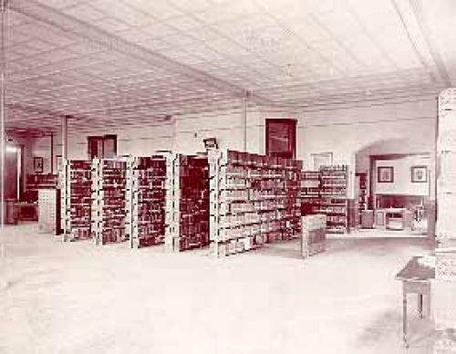 Library in Old Administration Building.