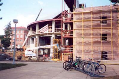 McCollum Science Hall under construction