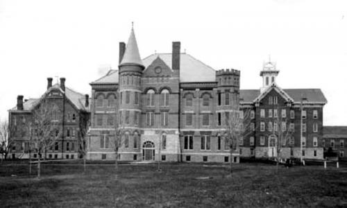 Normal School campus, 1896.