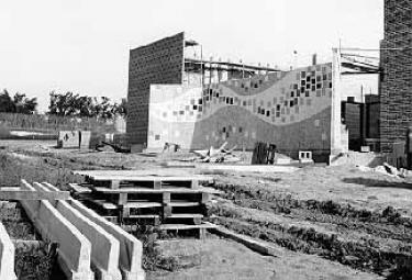 Russell Hall construction