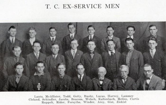 TC ex-servicemen, 1922