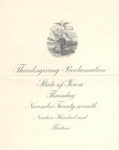 Thanksgiving proclamations