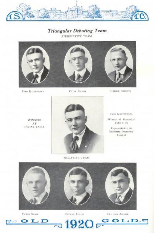Triangular Debating Team, 1920