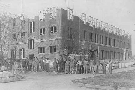 Wright Hall construction