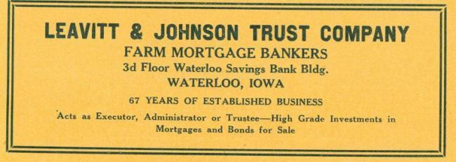 Leavitt & Johnson ad