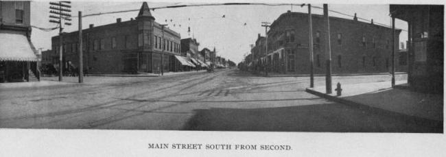 Main Street south from Second Street