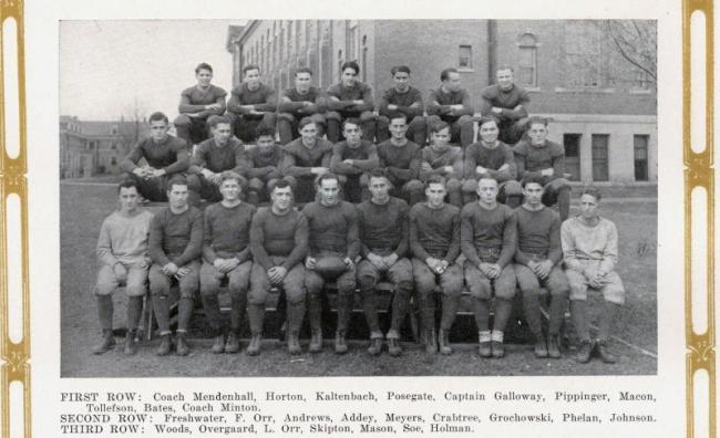 Teachers College football team, 1924