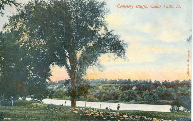 Cemetery bluffs, Cedar Falls, Iowa